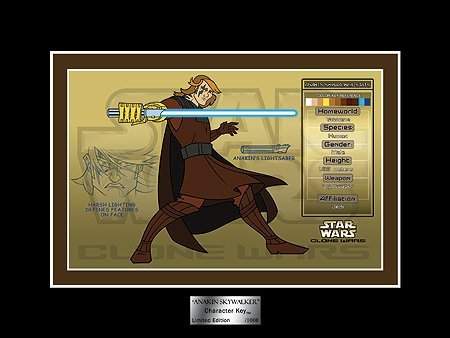 Star Wars Clone Wars Anakin Skywalker Character Key Limited Edition of 1000 by Acme Archives
