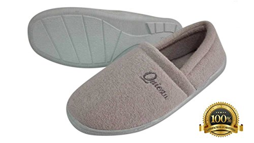 Quiesta Bamboo Slippers,Soft Luxurious Bamboo & Super Thick Memory Foam. Anti Slip Rubber Sole. 100% hypoallergenic indoor shoes. Number 1 House Slippers for Women, Men & Children. Pamper your Feet! (Chart Size For Women compare prices)