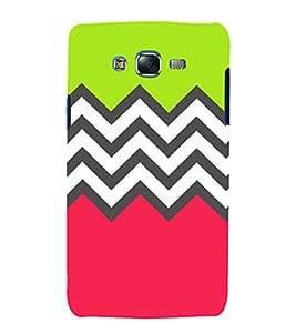 Zig Zag Pattern 3D Hard Polycarbonate Designer Back Case Cover for Samsung Galaxy J5 (2015) :: Samsung Galaxy J5 J500F (Old Version)