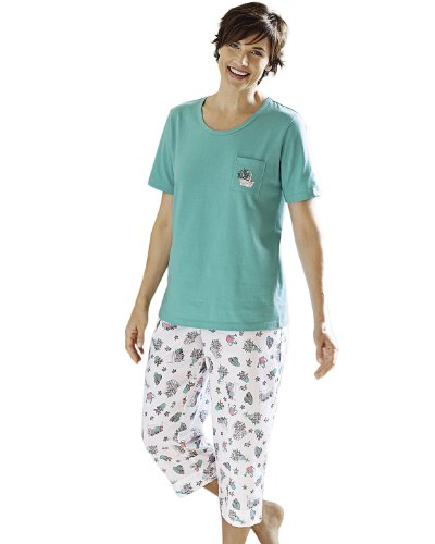 Green Cotton Pajamas front-999716