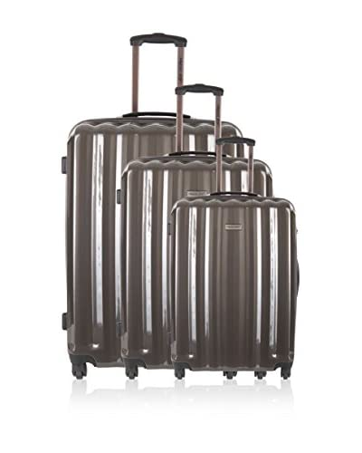Travel ONE 3er Set Hartschalen Trolley Altamura grau