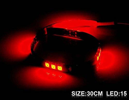 Generic 30 Cm 15 X 5050 Led Red Light Flexible Led Lighting Strip (Red)