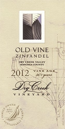 2012 Dry Creek Vineyard Old Vine Zinfandel, Dry Creek Valley 750 Ml