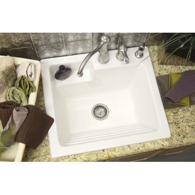 Advantage Westerly Self Rimming Laundry Sink Finish: Ice Gray, Faucet Drillings: Two Holes