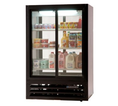 Beverage Air Lv15-1-W-54 Pass-Thru Refrigerated Merchandiser W/ 2-Sliding Doors, White, 15-Cu Ft, Each