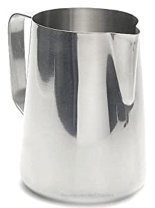 Large 66 oz. (Ounce) Espresso Coffee Milk Frothing Pitcher, Steaming Frothing Pitcher, Stainless Steel (18/10 Gauge) from Update International