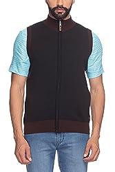 Raymond Men's Woolen Sweater (8907252535255_RMWY00448-K8_40_Black)