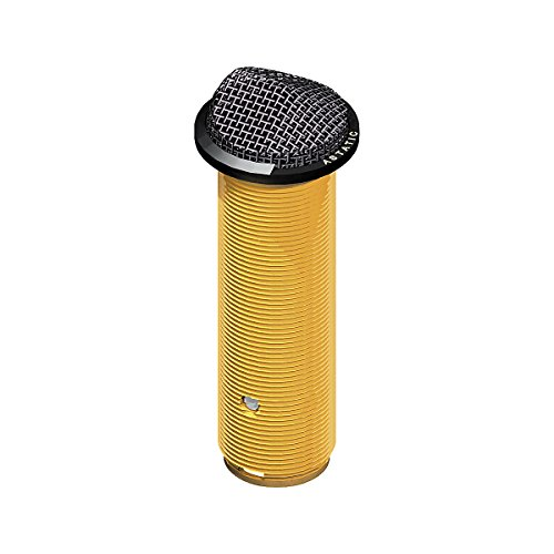 Astatic Mini Cardioid Installation Boundary Button Microphone, Black