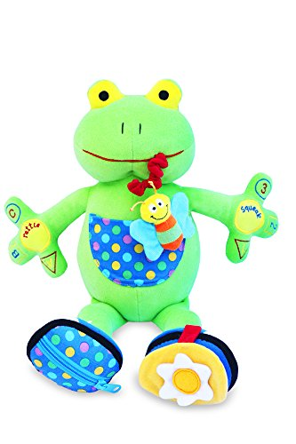 My PAL Jumper the Frog Activity Toy - Best Educational Toy for Babies and Toddlers 9 Mos. To 3 Yrs - The Safe, Cuddly and Fun Way to Help Your Child Learn - 1