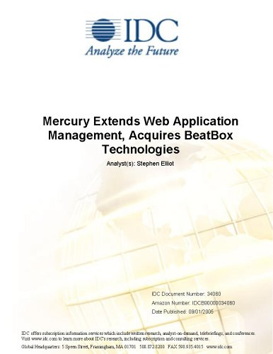 Mercury Extends Web Application Management, Acquires BeatBox Technologies Robert P. Mahowald