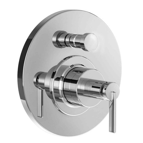 Jado 847546.150 Stoic Pressure Balance Diverter Tub and Shower Valve Trim with Cy Handle, Platinum Nickel