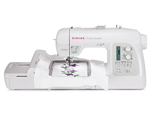 Cheapest Prices! Singer 4-in-1 Futura Quartet Sewing, Embroidery, Quilting and Serging Machine with ...