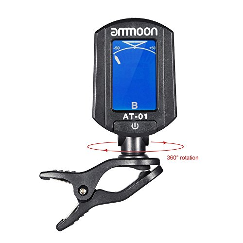 1Pc AT-01 Mini Clip-on Guitar Tuner Digital Foldable & Rotating Tuner for Chromatic Guitar Bass Violin Ukulele Guitar (Tie Dye Whistle compare prices)
