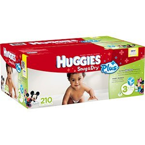 Huggies Snug & Dry Size 3 16-28lb-7-13kg 210 Per Pack