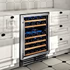 Wine Enthusiast Classic 46 Dual Zone Wine Cellar -Stainless Steel Trim