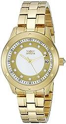 Invicta Women's 21405 Wildflower Analog Display Japanese Quartz Gold Watch
