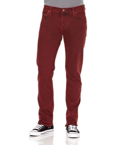 Nudie Jeans Pantalón Finn Red Rojo