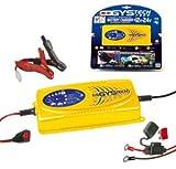 Automatisches Batterie Ladegerät 12V und 24V (KFZ Batterieladegerät) bis 130Ah (230Ah) - Tech7000