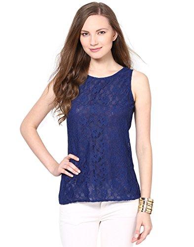Besiva black and white sleeveless top