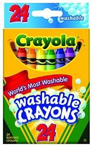 Crayola Crayons Washable 24 CT (Pack of 6) - 1
