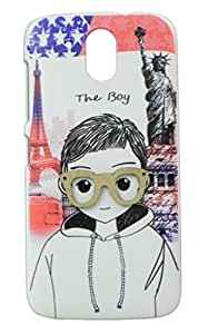Topping 3D Designer Back Cover Case For HTC Desire 526G Plus- Multicolor