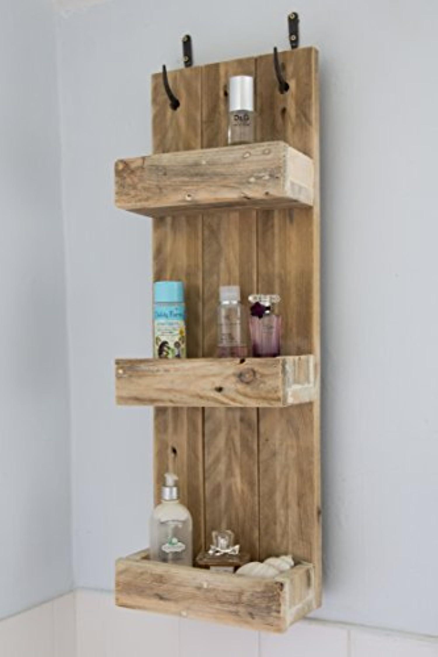Rustic Bathroom Shelves Made From Reclaimed Pallet Wood By Pallet Genesis
