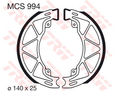 Lucas TRW Bremsbel&#228;ge MCS 994 hinten Piaggio Liberty 50 M22 00-