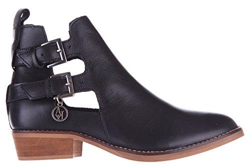 Armani Jeans stivaletti stivali donna in pelle nero EU 37 C5766 73 12