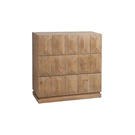Armadio 3cassetti rettangolo in legno naturale