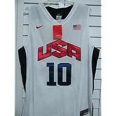 Kobe Bryant #10 2012 Olympics Replica Jersey: Nike Team USA Basketball White Nike... by Nike