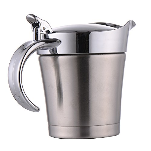 SHZONS Multi-purpose Double Wall Air Insulated Premium Stainless Steel Coffee Beer Juice Mug Frothing Jug (Tomato Juice Pitcher compare prices)