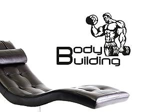 graz design 660136 57 070 wandtattoo deko f r jugendzimmer wand aufkleber sticker sport fitness. Black Bedroom Furniture Sets. Home Design Ideas