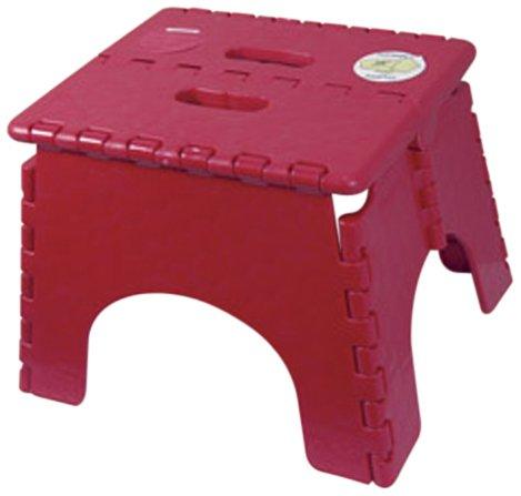 B&R Plastics 101-6BURG Burgandy EZ Foldz Step Stool