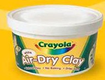 Crayola Air Dry Clay 5 Lbs White -- Case of 3