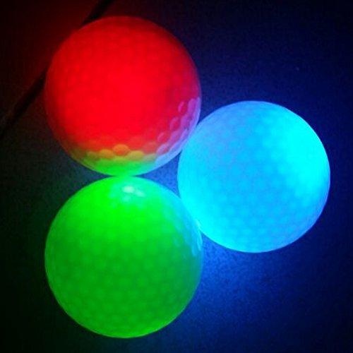 12-Piece Flashing Golf Balls Light Golf Balls Super Bright Night Flyer Glowing Led Golf Ball (Mixed Colors)