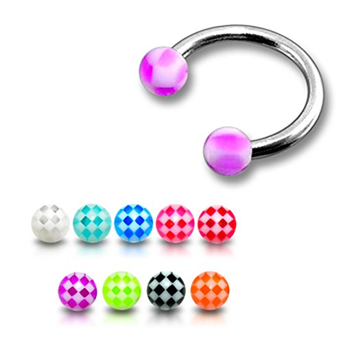 16gx5-16-12x8mm-316l-surgical-steel-circular-barbell-with-3mm-uv-checker-ball-body-jewelry-10-pieces