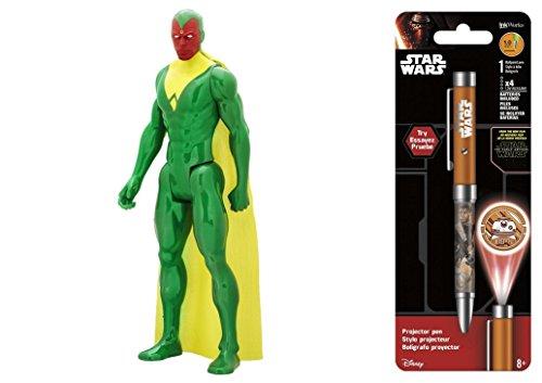 Super Hero Titan Hero Series Marvel's Vision & Free Star Wars Projector Pen, Colors may vary Toys