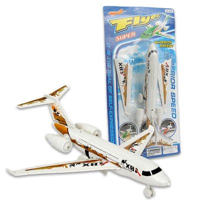 "10""l Plastic Super Flyer Airplane with Detachable Wings"