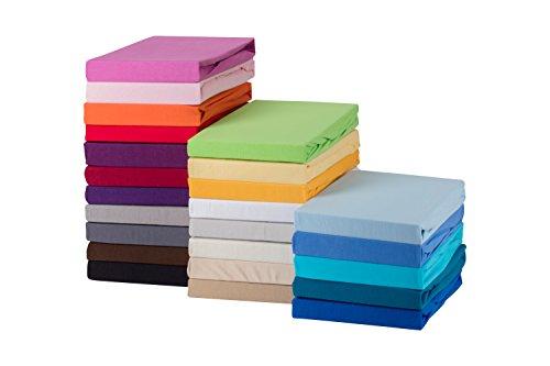 STARCK-Soft-Comfort-Baumwolle-Jersey-Stretch-Spannbettlaken-Wei-180x200cm-bis-200x200cm