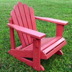 Westport Kids Adirondack Rocker Chair Color: Red