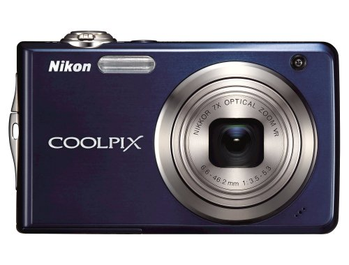 Nikon Coolpix S630 12MP Digital Camera with 7x Optical Vibration Reduction (VR) Zoom and 2.7 inch LCD (Midnight Blue)