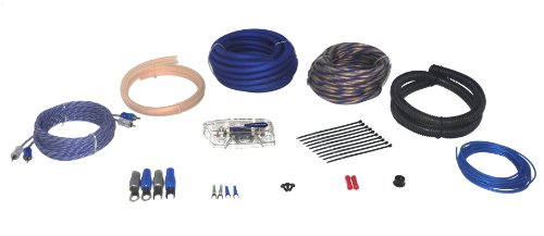 Power Acoustik Akit-2 Amplifier Wire Kit With 2 Gauge 17 Feet Power Wire, 30 Feet Speaker Wire, 17 Feet Rca And Turn-On Wire, 80A Anl Fuse And Holder