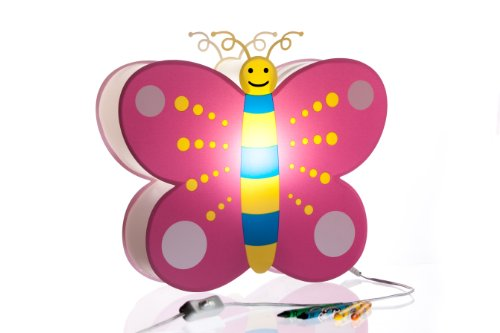 Nursery Lamp & Kid's Room Lamp - Colorful LED Decorative Lamp - Butterfly Design