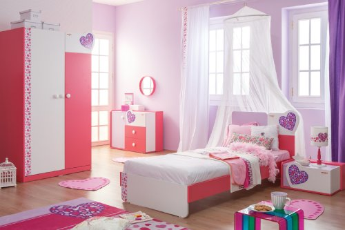 New Joy Lovely de nuit pour enfant Blanc 32 x 60 x 44 cm (Rose)