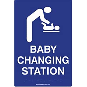Ada Compliant Baby Changing Station Restroom Sign 6x9