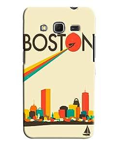 Blue Throat Boston City Printed Designer Back Cover/ Case For Samsung Galaxy Core Prime
