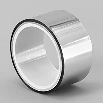 """TapeCase Metalized Polyester Film Tape 1/2"""" x 5yds - Silver (1 Roll)"""