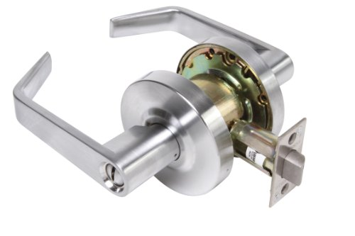 Legend 809073 Grade 2 Commercial Duty, Privacy Bed and Bath Leverset Lockset, ADA, US26D Satin Chrome Finish (Commercial Privacy Lever compare prices)