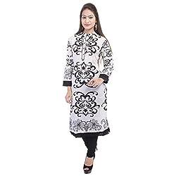 Fab Rajasthan Women's Cotton Kurti (FRUA_6056-Small_Multi-Coloured_Small)