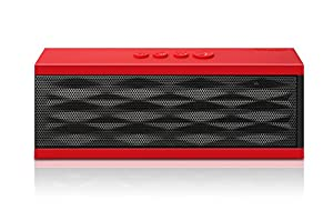 """DKnight Magicbox Ultra-Portable Wireless Bluetooth Speaker,Powerful Sound with build in Microphone, Works for Iphone, Ipad Mini, Ipad 4/3/2, Itouch, Blackberry, Nexus, Samsung and other Smart Phones and Mp3 Players [Upgraded with standard """"Beep"""" sound prompts ] (Red)"""